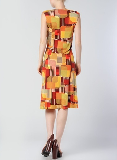 Asymmetry Elbise Kırmızı